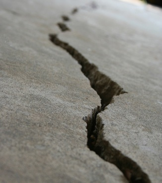 foundation crack concrete