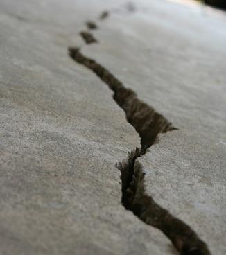 foundation crack concrete